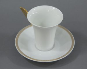 Rosenthal Versace - Medaillon Meandre d'Or - Coffee Cup and Saucer