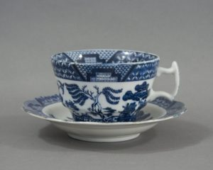 Vintage Miniature Willow Pattern Tea Cup and Saucer