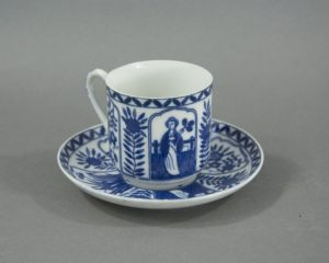 Vintage Chinese Porcelain Coffee Cup and Saucer