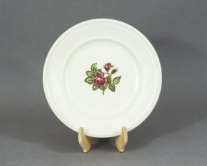 moss rose lunch plate