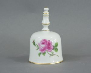 A Meissen Rote Rose Table Bell.