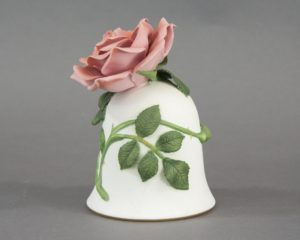 A Franklin Mint Rose Table Bell.