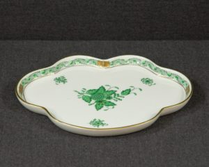 A Herend Apponyi Green Serving Tray.