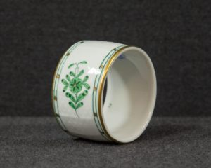 A Herend Apponyi Green Napkin Ring.