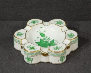 A Herend Apponyi Green Ashtray.