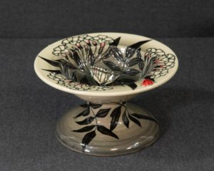 A Dennis Chinaworks Butterfly Tazza.