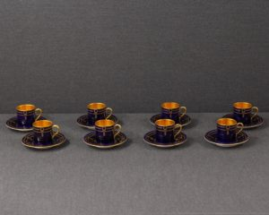 A set of eight Rosenthal D1245 Pattern Demitasse Cups.