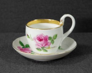 A mismatched Meissen Coffee Cup.