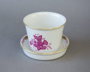 Herend Hungary - Apponyi / Chinese Bouquet Purple - Flower Pot and Saucer