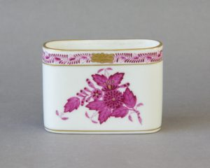 Herend Hungary - Apponyi / Chinese Bouquet Purple - Spoon Jar