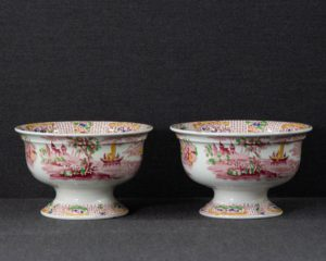 A Pair of Petrus Regout Footed Bowls.
