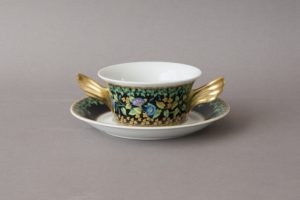 Rosenthal Versace - Gold Ivy - Soup Bowl and Saucer