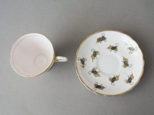 Tuscan Demitasse - Tea Cup and saucer - Gold leaves