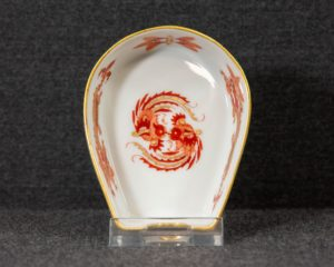 A Meissen Red Dragon Small Ashtray.
