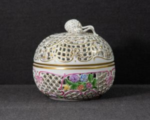 A Herend Large Reticulated Canister.