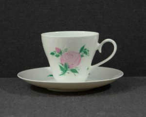 pink rose coffee cup