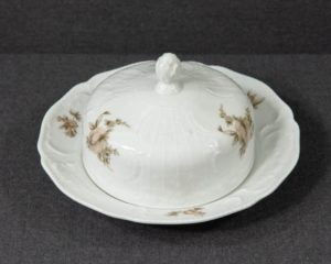 A Rosenthal Brown Rose Butter Dish.