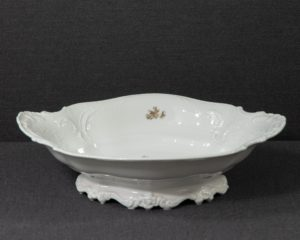 A Rosenthal Brown Rose Footed Dish.