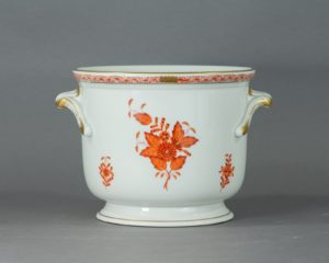 Herend Hungary - Apponyi / Chinese Bouquet Orange - Cachepot