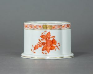 Herend Hungary - Apponyi / Chinese Bouquet Orange - Spoon Jar