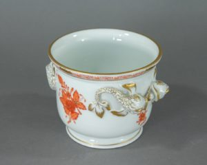 Herend Hungary - Apponyi / Chinese Bouquet Orange - Small Cachepot