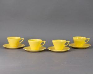 Plazuid Gouda - Set of four 1930s Cups and Saucers