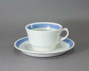 Arabia Finland - Blue Ribbon - Tea Cup and Saucer