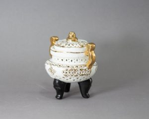 A Chinese Footed Reticulated Jar