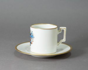 Vintage Mismatched Cup and saucer with Shield of Luxembourg