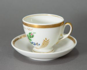 Early 19th century Dutch/Brussels Demitasse Cup and Saucer