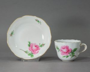 Meissen - Rote Rose - Small Coffee Cup and Saucer