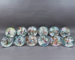 Jingdezhen Imperial Porcelain - Beauties of the Red Mansion - Complete 12 Plate Collection