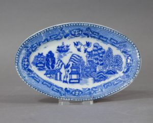 Vintage Chinese Willow Pattern Pickle Dish