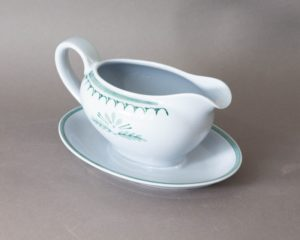 Arabia Green Thisttle sauce boat