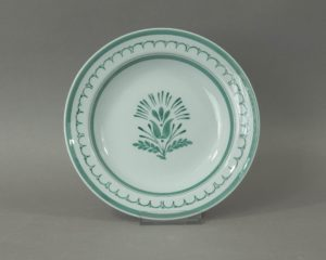 Arabia Green Thistle shallow plate