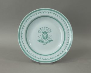 Arabia Green Thistle soup plate