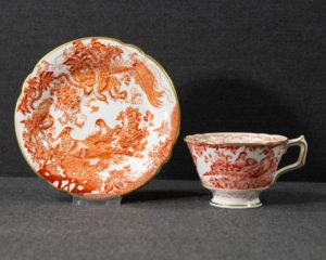 A Royal Crown Derby Red Aves Teacup.
