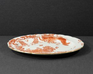 A Royal Crown Derby Red Aves Platter.