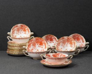 A Royal Crown Derby Red Aves Soup Cup.