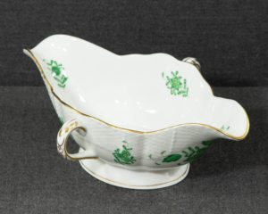 A Herend Apponyi Green Sauce Boat.