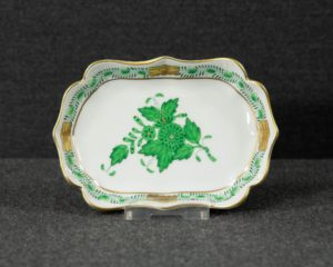 A Herend Apponyi Green Candy Dish.