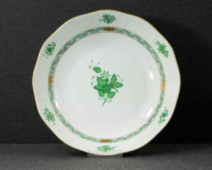 A Herend Apponyi Green Serving Bowl.