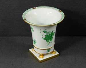 A Herend Apponyi Green Footed Vase.