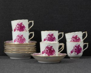 Herend Apponyi purple coffee cup