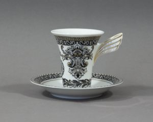 versace marqueterie coffee cup