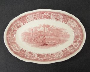 Burgenland Red Oval Bowl