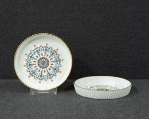 A set of two Royal Worcester Coasters.