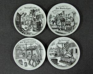 A set of four Bareuther Coasters.