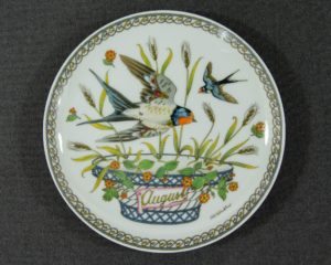 A Hutschenreuther August Month plate.