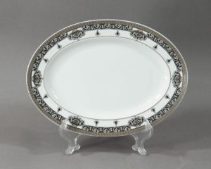 marqueterie small oval platter